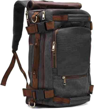 Amazon: ECOSUSI Vintage Canvas Travel Backpack For $15.00