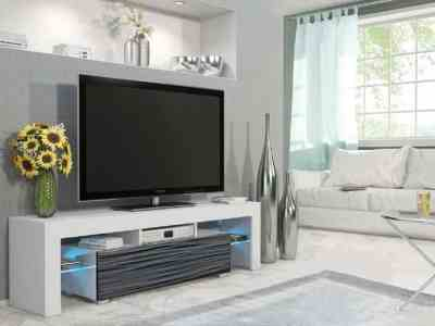Walmart: Milano 160 Modern 63″ TV Stand Matte Body High Gloss Fronts 16 Color LEDs For $399 (Reg.$499)