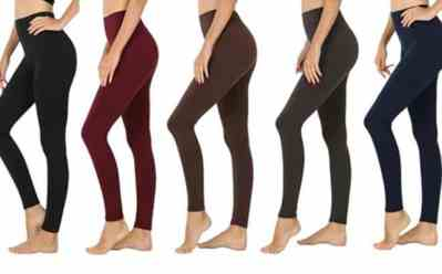 Woot: Nextex Fleece Lined Leggings 5 Pack for ONLY $28.99 (Regularly $80)