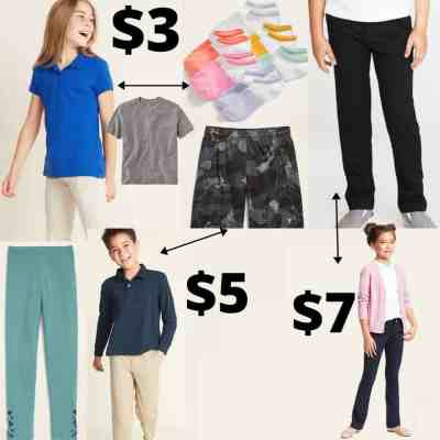 Old Navy: Kids Faves School Essentials Only $3 – $7 – Today Only!