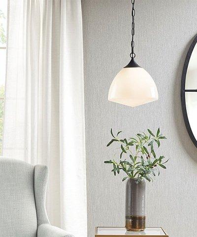 Zulily: Black & White Lyon Pendant Light ONLY $114.99 (Reg $237)