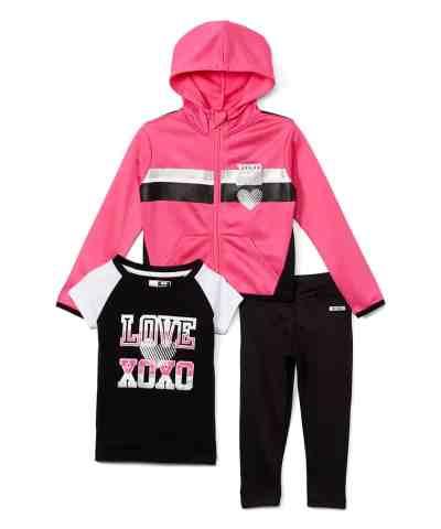 Zulily: Black & Pink Stripe 'Love XOXO' Hoodie Set Now $11.99 (Reg $50.00)