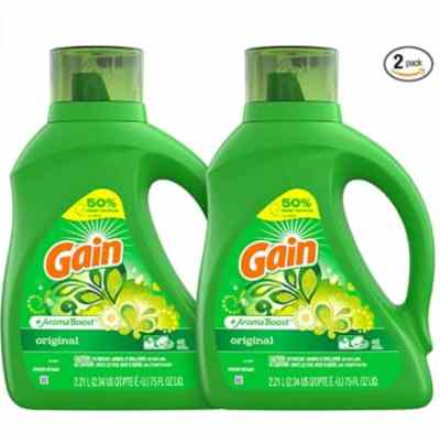 Amazon: Pack of 2 Gain Laundry Detergent Liquid for $11 (Reg. Price $18.99) after coupon!