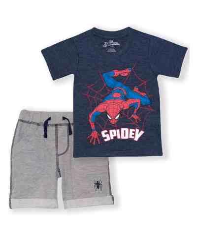 Zulily: Spider-Man Navy & Gray 'Spidey' Tee & Shorts - Toddler $10.99 (Reg $40.00)
