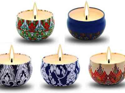 Amazon: Scented Candles, Soy Wax 5-Pack Gift Package $8.39 ($21)