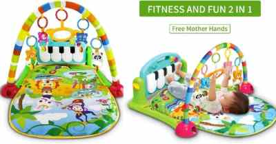 Amazon: Baby Activity Gym Playmat with 5 Activity Sensory Toys $19.99 ($50)