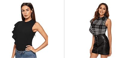 Amazon: Verdusa Women's Neck Bodysuit For $8.99