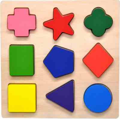 Amazon: Wooden Preschool Colorful Shape Puzzle, Just $6.79 (Reg $18.00)