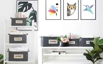 Home Depot: Nesting Felt Storage Baskets with Handles JUST $29 (Regularly $60.49)