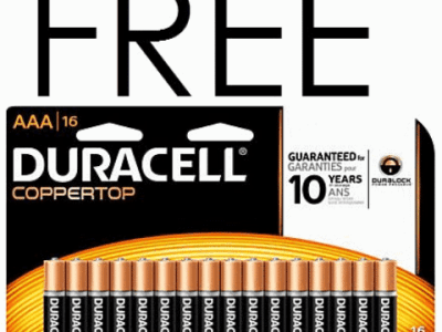 FREE Duracell Batteries at Office Depot This Week
