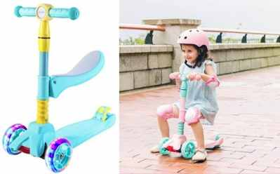 Woot: Kids 2 in 1 Kick Scooter for ONLY $29.99 (Regularly $70) – Two Colors