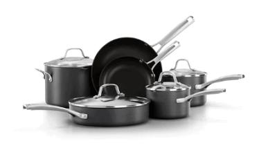 Kohls: 10-pc. Hard-Anodized Aluminum Nonstick Cookware Set only $169.99 (Reg. $249.99)