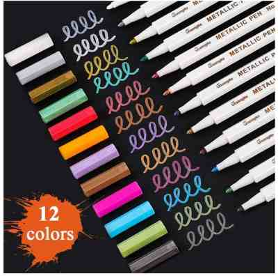 Amazon: 12 Pcs Fine Point Metallic Marker Pens for $5.21 (Reg.Price $8.69) after code!