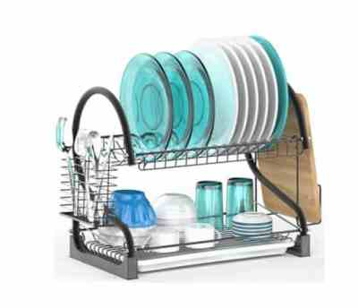 Amazon: 2 Tier Dish Drying Rack with Removable Drain Board for $26.99 (Reg. Price $32.39)
