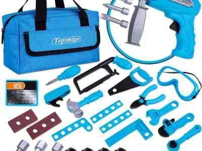 Amazon: 31 Pcs Kids Tool with Drill and Tool Handbag Tool Set for $19.80 (Reg.Price $24.75)