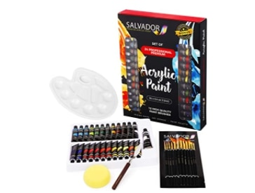 Amazon: 40 Pcs Acrylic Paint Set for $13.08 (Reg. Price $19.99)