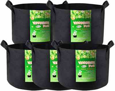 Amazon: 5-Pack 25 Gallon Plant Grow Bags, Just $19.54 (Reg $25.99)