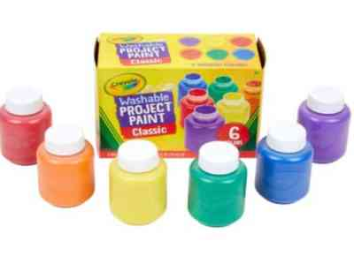 Amazon: 6 Count Crayola Washable Kids Paint for $6.25 (Reg. Price $14.00)