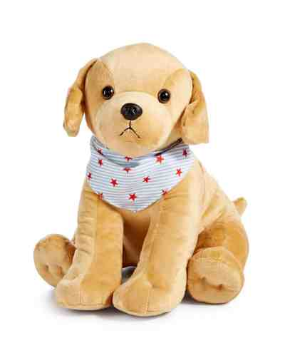 MACY'S: Martha Stewart Collection Americana Patriotic Plush Golden Retriever For At Reg.$40.00 w/code FRIEND