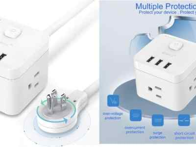 Amazon: Surge Protector Power Strip w/ 3 AC Outlets $12.99 ($26)