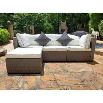WAYFAIR: Burruss Patio Sectional with Cushions For $409.99 At Reg.$970.00