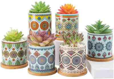 Amazon: Ceramic Succulent Planter, 3.2 inch, 6 Pack for $10.99 (Reg. Price $21.99) after code!