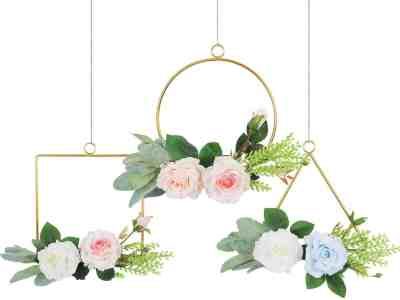 Amazon: Pauwer Floral Hoop Wreath Set of 3 for $9.59-$11.59