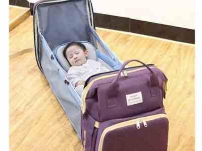 Amazon: Magsbud Portable Fodable Crib Diaper Bag for $29.99