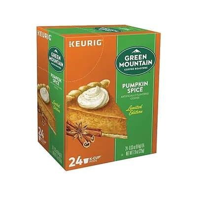Staples: 24/Box Green Mountain Pumpkin Spice Coffee $11.99