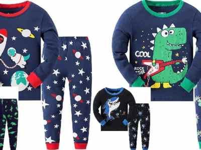 Amazon: Garsumiss Boys Dinosaur Pajamas Set Cotton $9.99 ($20)