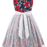 Amazon : Girls Sleeveless Contrast Color Dresses with Bow-Knot Just $8.05 W/Code (Reg : $22.99)