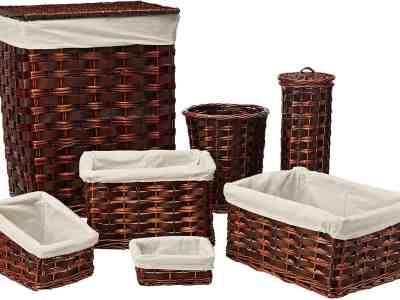 Amazon: Honey-Can-Do HMP-01866 7-Piece Wicker Hamper Kit for $34+