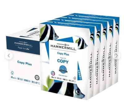 "Staples: Hammermill Copy Plus 8.5"" x 11"" Copy Paper 5 packs of paper, Just $17"
