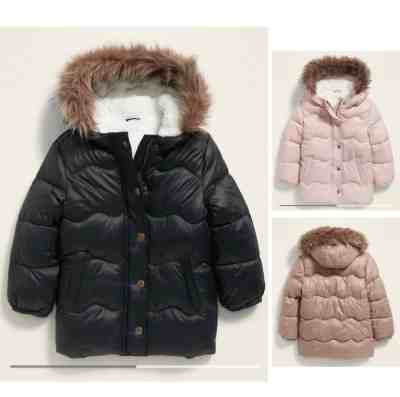 Old Navy: Unisex Faux-Fur-Trim Hooded Frost-Free Puffer Jacket for Toddler for $19!!(Reg. $59.99)