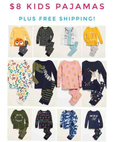 Old Navy: kids pajamas For ONLY $8.00 + FREE Shipping!