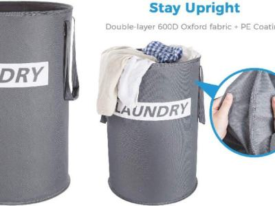 Amazon: Lifewit 75L Freestanding Round Laundry Hamper $8.99 ($18)