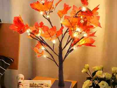 Amazon: Whonline Lighted Fall Maple Tree for $11.39