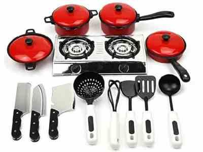 Amazon: Mini Kitchen Playsets, Pretend Cookware $7.49 ($15)