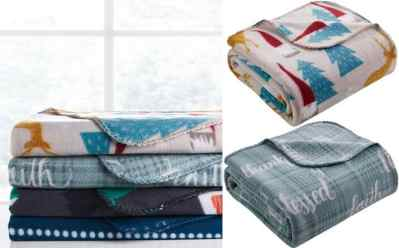 Macy's: Morgan Home Holiday Fleece Throws for JUST $5.99 (Regularly $20)