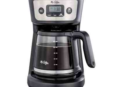Walmart: Mr. Coffee 12 Cup Programmable Coffeemaker, Strong Brew Selector, Stainless Steel $19.96 + Free In-Store Pickup At Reg.$24.94