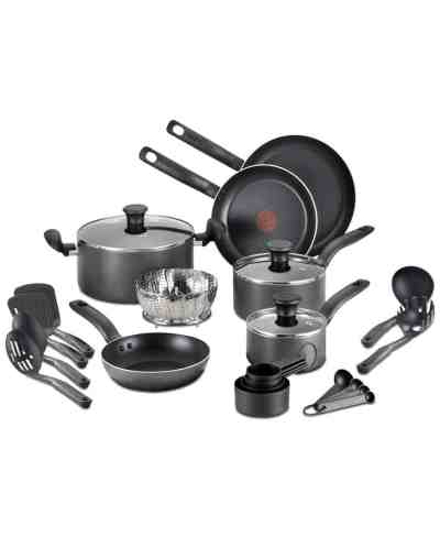 Macy's: T-Fal 18-Pc. Nonstick Cookware Set $48.99 (Reg $179.99)