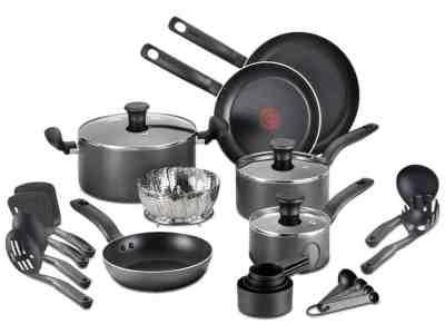 Macy's: T-Fal 18-Pc. Nonstick Cookware Set $48.99 (Reg $179.99)