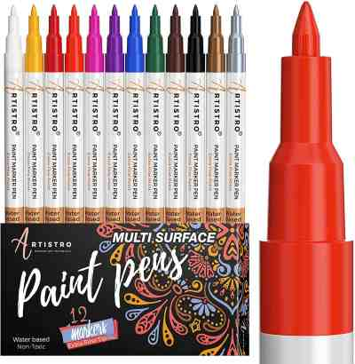 Amazon: Paint pens for Rock Painting, Stone, Ceramic, Glass, Wood, Canvas, Just $12.74 (Reg $23.99)