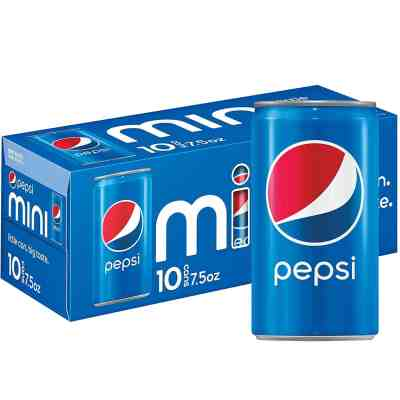 Amazon: Pepsi Soda, 7.5 Ounce Mini Cans, 10 Pack for $2.66 (Reg. Price $3.99) after coupon!