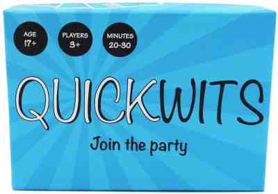 Amazon: Quickwits Party Card Game -- A Fun and Social Adult Tabletop Game, Just $9.00