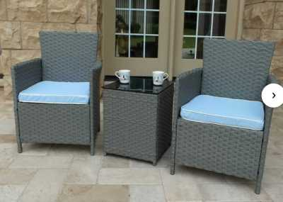 WAYFAIR: Pendergast 3 Piece Rattan Seating Group with Cushions For $134.99 At Reg.$149.99
