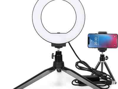 Amazon: LTRINGYS 6''Selfie Ring Light with Stand for $11.31