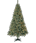 Walmart: Holiday Time Pre-Lit Madison Pine Artificial Christmas Tree, 6.5', Mini Clear Lights for $39!!