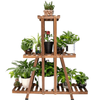 Amazon: 3 Tier Wood Plant Stand for $25.99!!(Reg. $47.25)