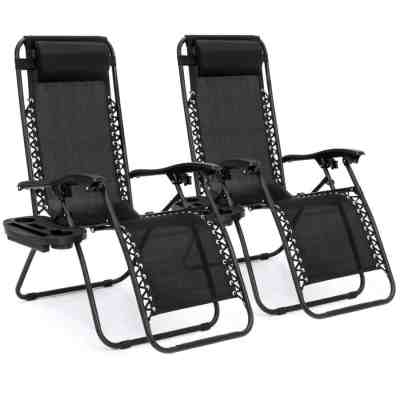 Best Choice Products: Set of 2 Adjustable Zero Gravity Patio Chair Recliners, Just $89.99 (Reg $129.99)